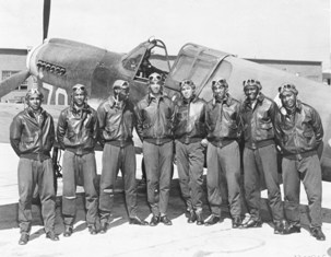 Members of the Tuskegee Airmen--Circa May 1942 to Aug 1943--Location unknown, likely Southern Italy or North Africa