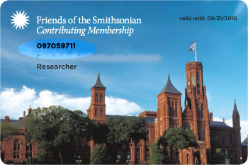 Friends of the Smithsonian Member Card