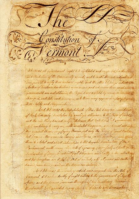 The 1777 Vermont Constitution