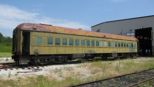 Segregated railroad car before refurbishment.