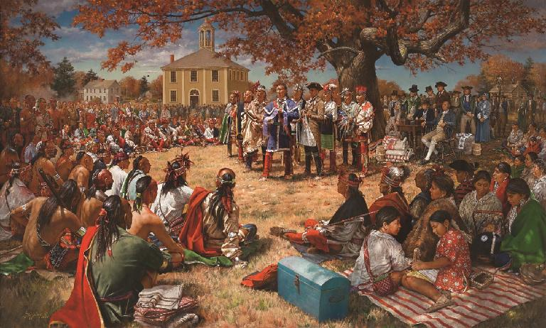 Canandaigua Treaty Day Painting by Robert Griffing