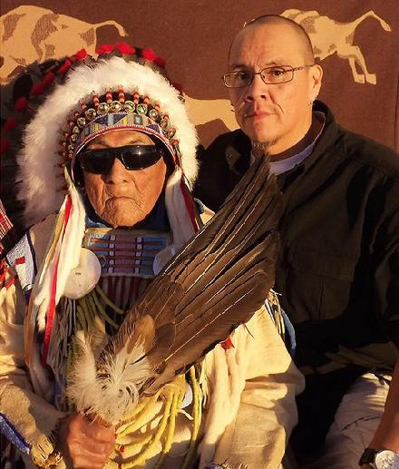 Dr. Joe Medicine Crow and Chester Medicine Crow