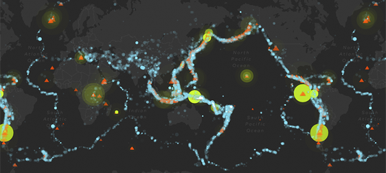 Eruptions, Earthquakes, and Emissions