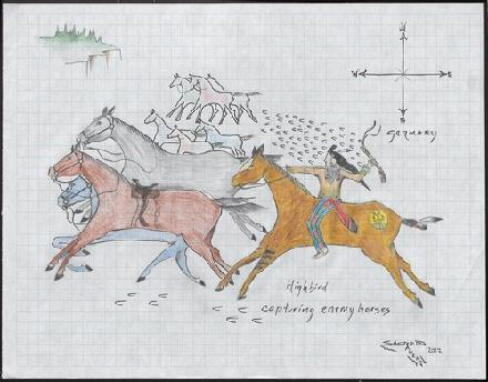 Highbird Capturing Enemy Horses