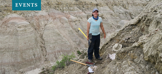 Paleobiologist Laura Soul onsite at canyon