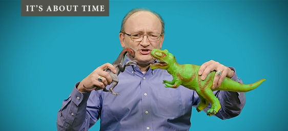 It's About Time - Dr. Hans Sues and toy dinosaurs