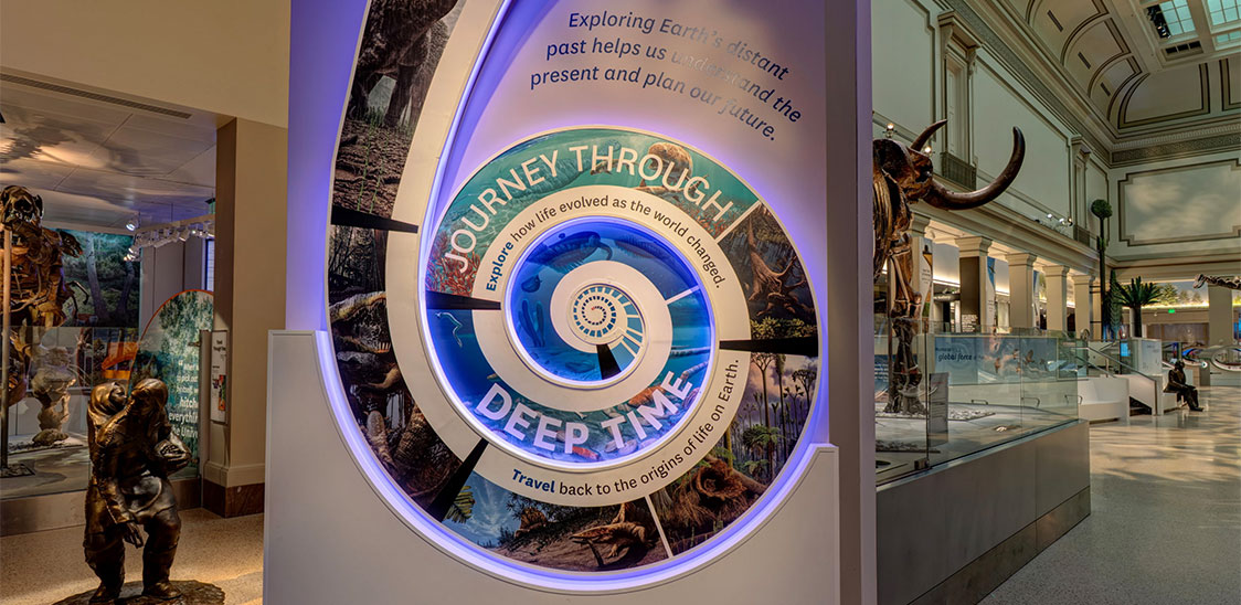 Deep Time exhibit entrance