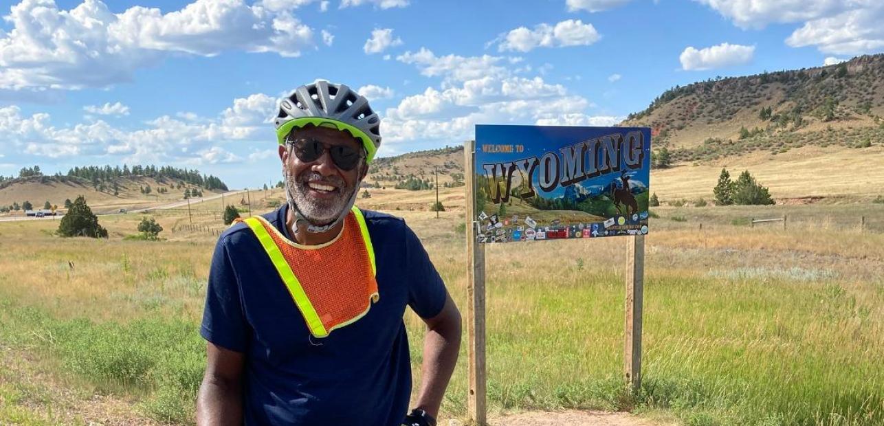 Scott Edwards at Wyoming Border