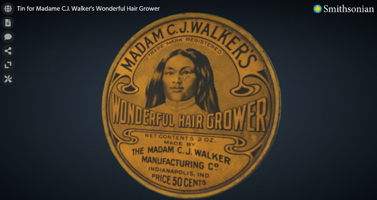 Tin for Madam C.J. Walkers Wonderful Hair Grower
