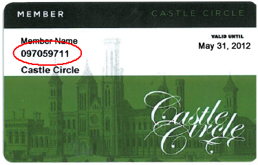 Castle Circle Membership Card