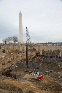 NMAAHC Construction site on Feb 13, 2013