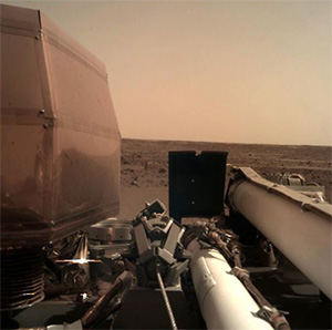 The first photo taken by NASA's Insight Lander on Mars
