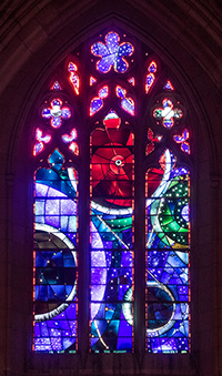Space Window at the National Cathedral in Washington DC