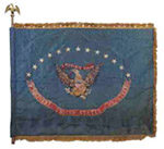 Flag of the 9th Regiment of United States Volunteers, Mustered in New Orleans, 1898. Photo Courtesy Swann Galleries