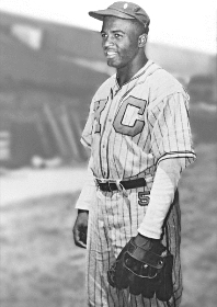 Jackie Robinson in Kansas City uniform
