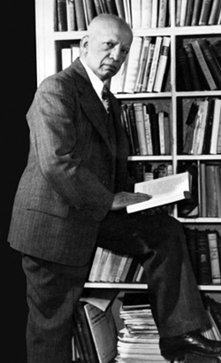 Carter Woodson, father of Black History Month, in his private library. Woodson recognized that knowing and understanding our past was the foundation to our future.