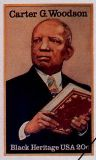 CCarter Woodson, father of Black History Month, was commemorated by the United States Postal Service with a stamp in his image on February 1, 1984