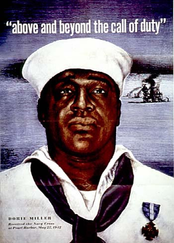 """Above and beyond the call of duty"" — the 1942 Navy recruiting poster featuring Dorie Miller."